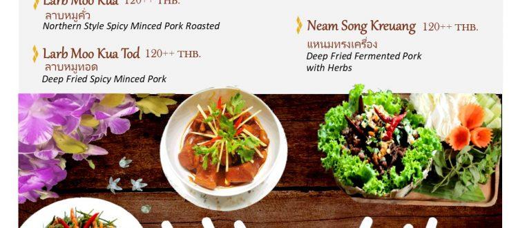 Songkran northern thai food