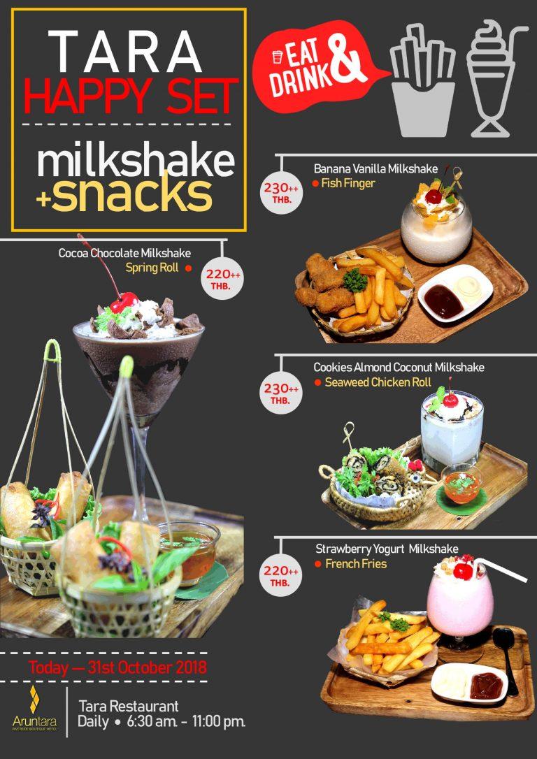 Aruntara Riverside Boutique Hotel promotion-special-offers-th  Tara-Happy-Set_MilkshakeSnack2018-768x1086